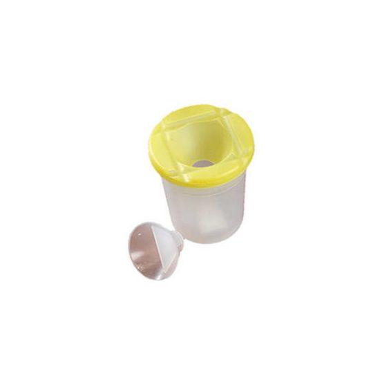 Yellow Plastic Non-Spill Brush Pot