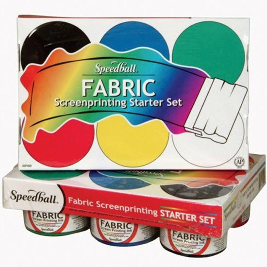Speedball Fabric Screenprinting Starter Set 6 x 120ml
