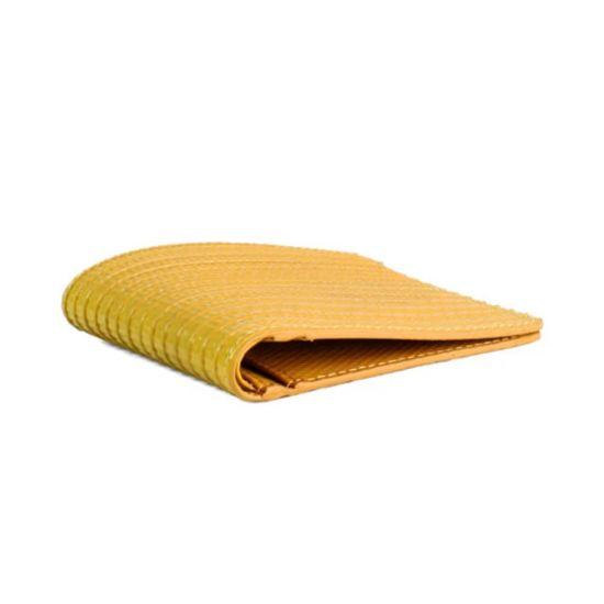 Elvis & Kresse Billfold Wallet Yellow Handmade Fire Hose