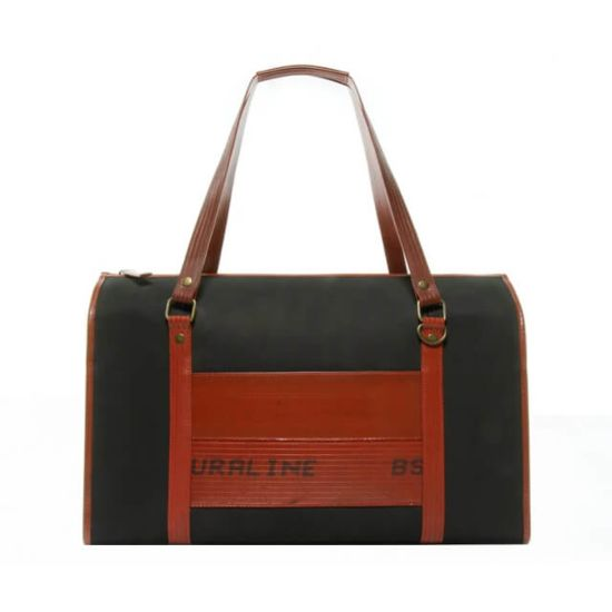 Elvis & Kresse Overnight Bag Black Handmade Fire Hose