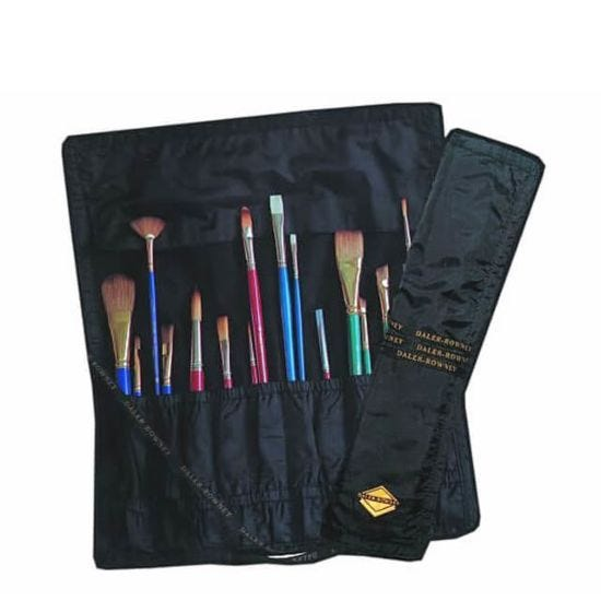 Daler-Rowney Black Brush Roll For 20 Brushes