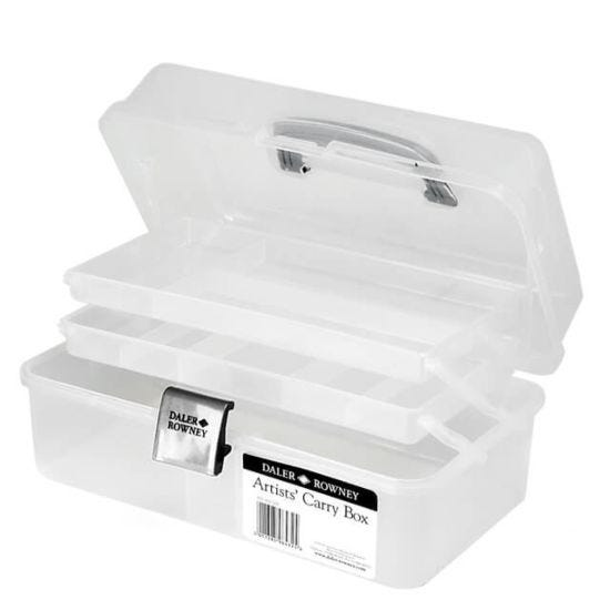 Daler-Rowney Artists Cantilever Caddy Carry Box - Clear