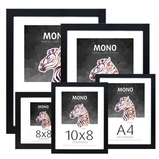 Ultimat Mono Glass & Wood Picture Frame - Black