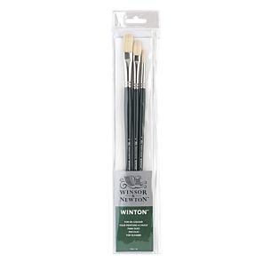 Winsor & Newton Winton Long Handle 3 Brush Set Image | London Graphic Centre