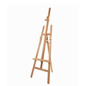 Mabef M13 Beech Wood Lyre Easel Front | London Graphic Centre
