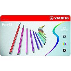 Stabilo Pen 68 Metal Tin of 50