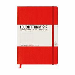Leuchtturm1917 Hardback Medium Notebook Dotted Paper A5 Red | London Graphic Centre