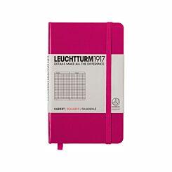 Leuchtturm1917 Hardback Pocket Notebook Squared Paper A6 Berry | London Graphic Centre