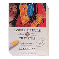 Sennelier Oil Pastel Box of 6 Assorted Colours Front