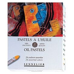 Sennelier Oil Pastel Box of 24 Assorted Colours