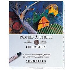 Sennelier Oil Pastel Box of 24 Landscape Colours Front Box