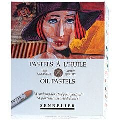 Sennelier Oil Pastel Box of 24 Portrait Colours