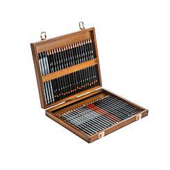 Derwent 48 Sketching Pencils in Wooden Box