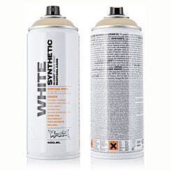 Montana WHITE Gloss Spray Paint 400ml Can | London Graphic Centre