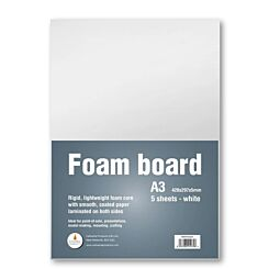 Cathedral Foam Board A3 5mm Recyclable Pack Of 5 White Front