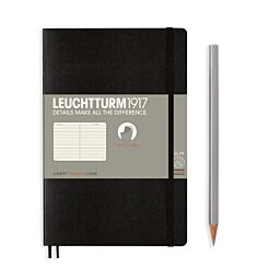 Leuchtturm1917 Softcover Notebook Ruled Black B6+ Flat | London Graphic Centre