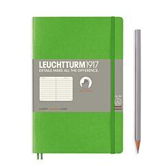 Leuchtturm1917 Softcover Notebook Ruled Fresh Green B6+ Flat | London Graphic Centre