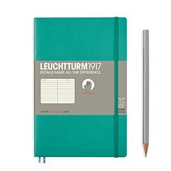 Leuchtturm1917 Softcover Notebook Ruled Emerald B6+ Flat | London Graphic Centre