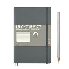 Leuchtturm1917 Softcover Notebook Ruled Anthracite B6+ Flat | London Graphic Centre