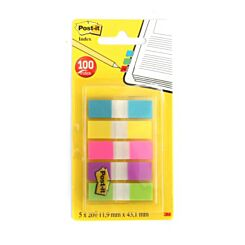 3M Post It File Index Tabs 43mm x 12mm 100 Sheets
