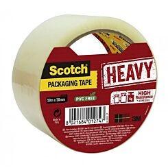 Scotch Packaging Tape Heavy Duty Clear 50mm x 50m