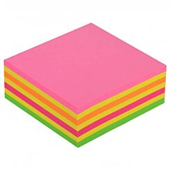 Post-it Notes Cube Neon Rainbow Front | London Graphic Centre