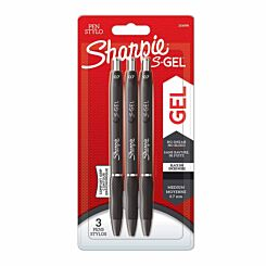 Sharpie S Gel Pens Pack of 3 Black