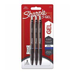 Sharpie S Gel Pens Pack of 3 Blue