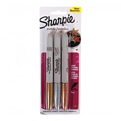 Sharpie Metallic Permanent Marker Pack of 3 Front | London Graphic Centre