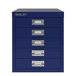 Bisley 5 Drawer Oxford Blue Cabinet Front   London Graphic Centre
