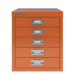Bisley 5 Drawer Orange Cabinet Front   London Graphic Centre