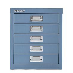 Bisley Classic Multidrawer 5 Drawer Steel Cabinet - New Blue Front