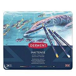 Derwent Inktense Colour Pencils Set of 24 Tin