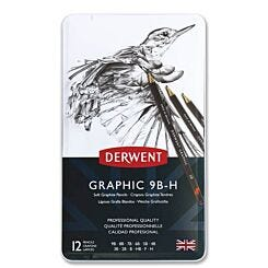 Derwent Graphic Soft Drawing Pencils Set of 12 Front