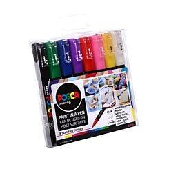 Uni Posca Paint Pen PC-1M Pack of 8 Assorted Colours