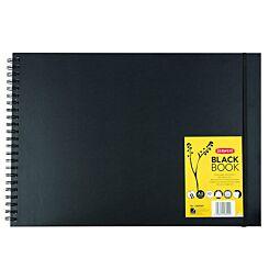 Derwent Sketchbook Hardback Black Paper A3 Landscape Front