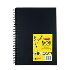 Derwent Sketchbook Black Paper A4 Portrait Front