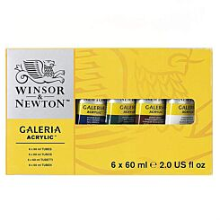 Winsor & Newton Galeria 60ml Acrylic Paint Set of 6 Tubes | London Graphic Centre