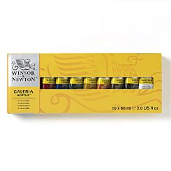 Winsor & Newton Galeria 60ml Acrylic Paint Set of 10 Tubes | London Graphic Centre