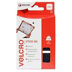 VELCRO® 24 Hook & Loop Squares - Black Front | London Graphic Centre