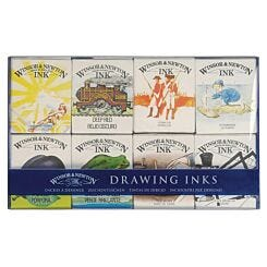 Winsor & Newton William Collection Drawing Ink Set of 8
