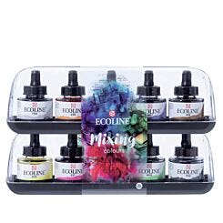 Royal Talens Ecoline Watercolour Inks Set of 10