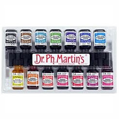 Dr. Ph. Martins Radiant Concentrated Watercolour Ink 15ml Set A Front Box