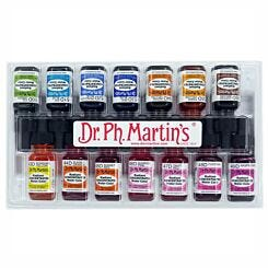 Dr. Ph. Martins Radiant Concentrated Watercolour Ink 15ml Set D Box Closed
