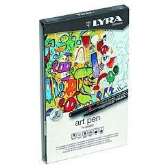 LYRA Felt Tip Art Pen - Metal Box of 10