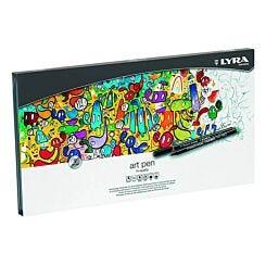 LYRA Felt Tip Art Pen - Metal Box of 50