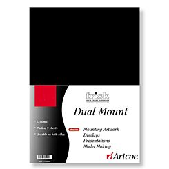 Frisk Dual Mount Board A3 Black & White Pack of 5 1250mic Front | London Graphic Centre