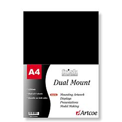 Frisk Dual Mount Board A4 Black & White Pack of 5 1250mic Front | London Graphic Centre