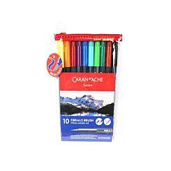 Caran D'Ache Fibralo Water Soluble Brush Pens 10 Pack Wallet