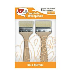 Pebeo White Bristle Spalter Paint Brush Pack of 2 Front | London Graphic Centre